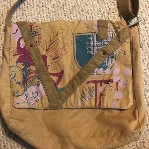 Canvas messenger bag crossbody music Pattern